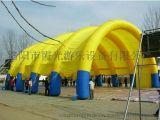 供應5米跨度多樣式喜慶充氣彩虹門