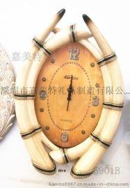 挂钟 欧式田园复古钟表 客厅钟表