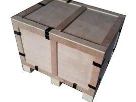 **阴泓昇木业大型木箱木托厂家专业生产免熏蒸出口钢边箱 钢带箱 围板箱 围框箱