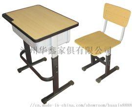 沧州华鑫精美钢木可升降学生课桌椅