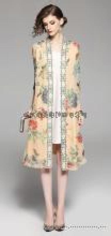 四季太阳花19年夏装韩版宽松中长款连衣裙品牌女装