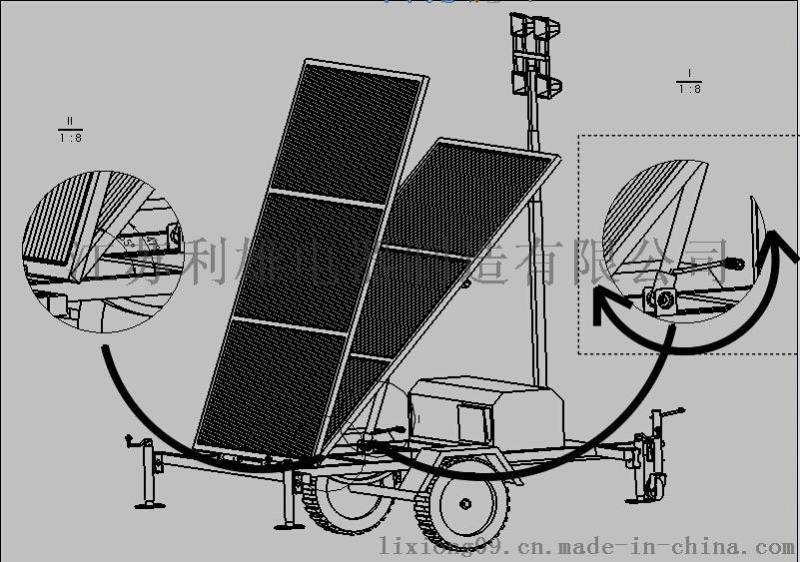 SFW6130T 太阳能移动照明灯塔,太阳能拖车式全方位照明灯,大功率太阳能移动照明灯塔