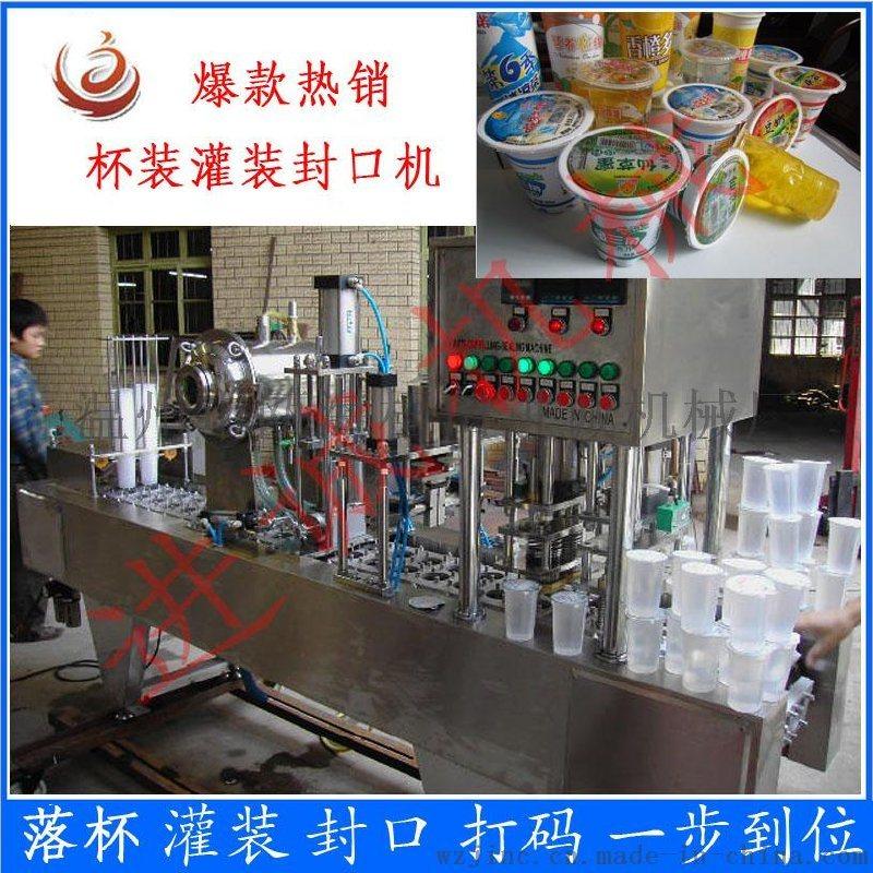 浙江可出口全自动杯装水灌装封口机设备 塑杯灌装封口机厂家直销