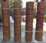 供应各种仿木造型玻璃钢柱子雕塑