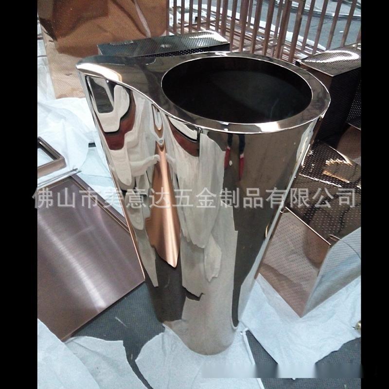 圆锥落地不锈钢花盆 不锈钢花钵造型 异形加工