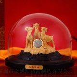 金莱福绒沙金十二生肖招财羊摆件三阳开泰家居装饰品