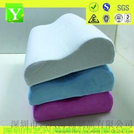 記憶枕 慢回彈短毛絨 弓形枕護頸枕 成人單人海綿枕頭枕芯