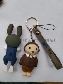 定制3D立体钥匙扣 卡通公仔立体钥匙扣