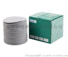 厂家直供5寸植绒背绒圆盘砂纸片 拉绒打磨片