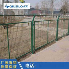 源头厂家现货丝径4mm高速公路框架式护栏网 浸塑防护网 防腐性能强绿色隔离栅