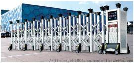 304冷扎钢白色电动伸缩  学校大门专用材料