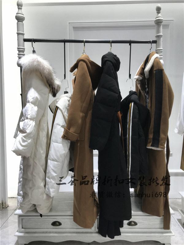 艾米拉羽绒服18年冬装品牌折扣女装一手货源