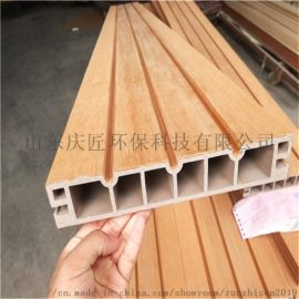 山东生态木外墙板 塑木共挤墙板园林工程专用墙板