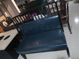 铁艺沙发双人卡座工业风卡座咖啡厅休闲椅组合