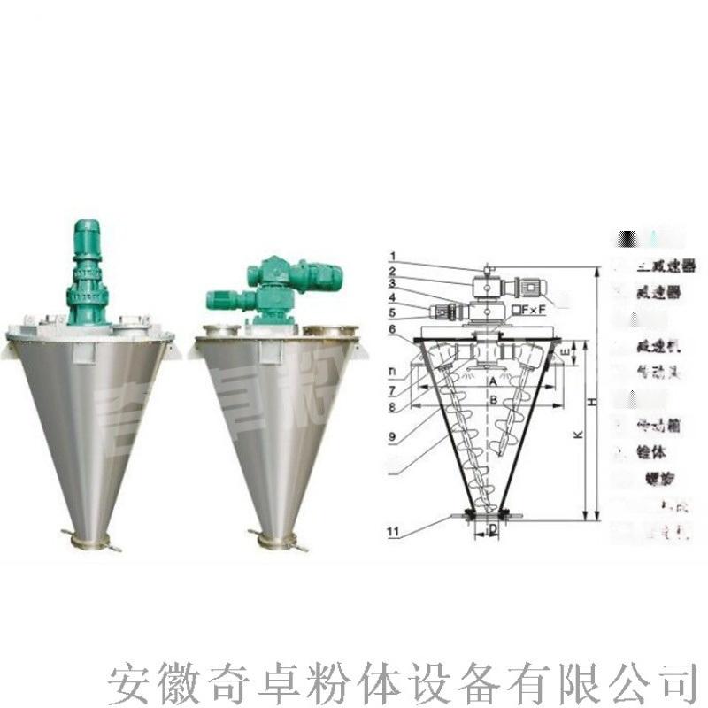 酚醛树脂加工双螺旋锥形混合机。非标定制