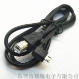 MICRO 5P彎頭 對 USB B公 平板列印線