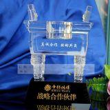 最具誠信合作伙伴紀念品,水晶鼎擺件禮品,答謝客戶紀念品定做