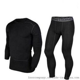 PRO长袖紧身衣跑步健身足球篮球训练服男打底高弹运动套装T恤