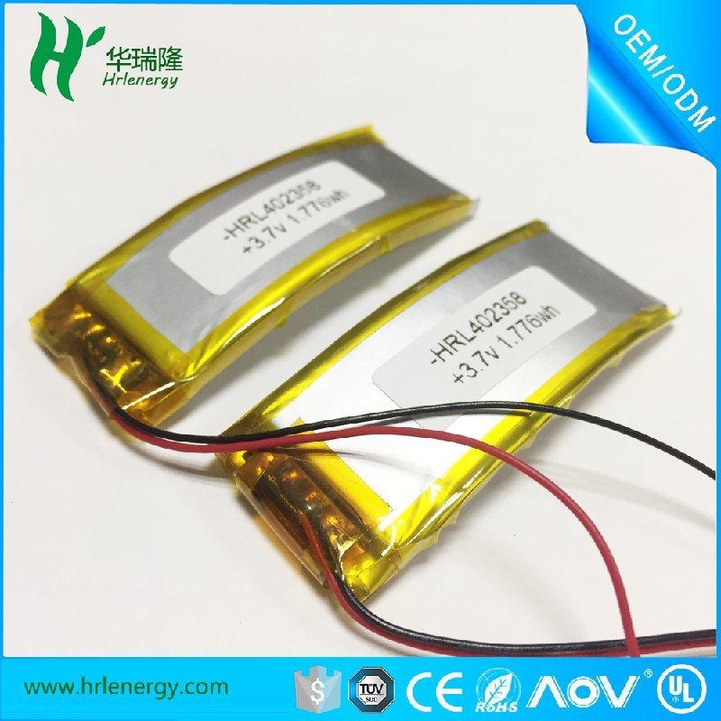 402358-480mah 弯曲聚合物 电池