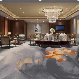 郑州宾馆地毯定制 郑州可定制图案会所地毯