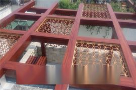 定做鋁型材花管,藝術鋁花管烤漆木紋鋁方通管。