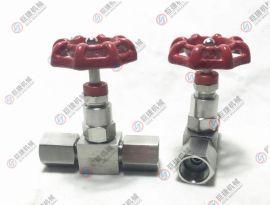 压力表针型阀 手动压力表阀,JJM1-160P压力表仪表阀 不锈钢针阀