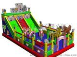 喜洋洋争霸大型充气滑滑梯厂家订做 浙江温州气垫蹦床出类拔萃