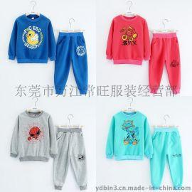 外贸原单童装 2015春秋季男女童装 韩版长袖童套装卫衣