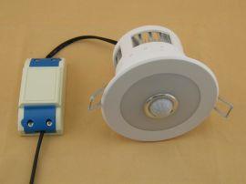 深圳日正达R198-9W嵌入式人体红外线感应双亮度LED筒灯