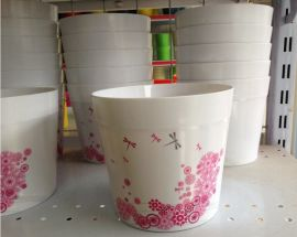 6inch 印花美耐皿花盆/flower pot