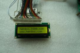 厂家直销LCD1602(黄绿屏) 5V 1602液晶显示屏 带背光