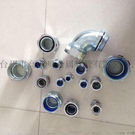 包塑金属软管接头 蛇皮管箱接头外丝外牙/卡套/内牙/端式自固镀铬