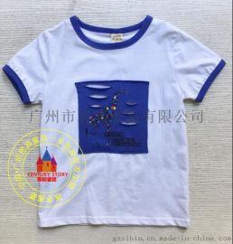 【嘰嘰哇哇】品牌童裝 夏裝T恤 一手貨源折扣批發