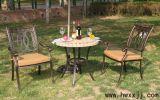 雙金錢鑄鋁椅BML151105 露天桌椅 別墅花園傢俱