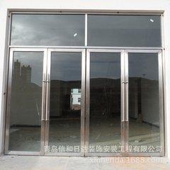 太原安装玻璃门定做钢化玻璃地弹门