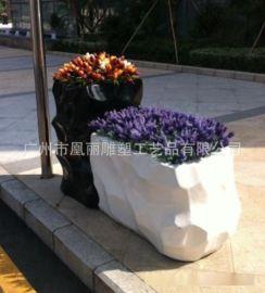 玻璃钢艺术花盆容器 家居美陈装饰花盆 植物花盆 现代景观花盆