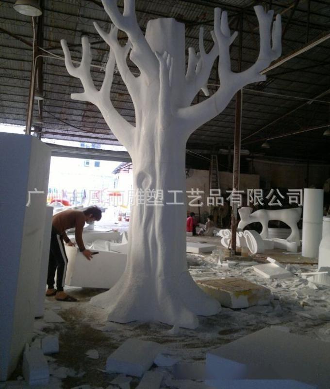 3D數控雕刻機製作精細泡沫雕塑 婚慶舞臺背景道具裝飾