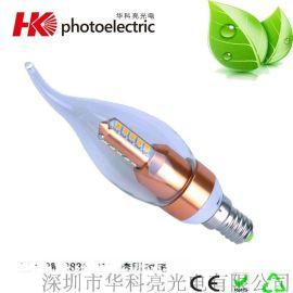 厂家批发 led调光蜡烛灯 新款LED蜡烛灯 3W蜡烛灯 量大价优