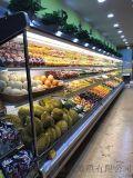超市水果蔬菜风幕柜  超市牛奶饮料展示柜