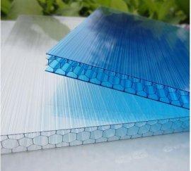 上海申竹厂家供应8mm蜂窝阳光板定做 PC透明实心耐力板 双层多色阳光板