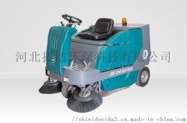 扫地机 手推扫地机 河北拓洁T900驾驶式清扫车 小区工厂使用效果
