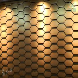 六边形平锁扣板系统 蜂巢形墙面板 铝镁锰平锁扣系统