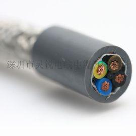 高柔耐磨TPU电缆 2芯0.3平方22AWG TPU电缆 高柔性耐弯曲耐油耐磨