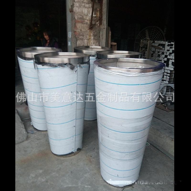 304拉丝不锈钢垃圾筒 不锈钢花钵外贸出口制品 厂家定做不锈钢垃圾筒
