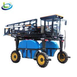 大型四驱四轮高地隙高架喷杆玉米棉花新型自走式打药车