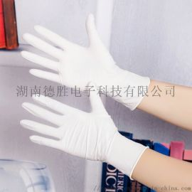 5.0G白色9寸无粉指麻一次性丁腈手套