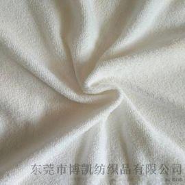 厂家批发涤棉毛巾布 浴袍拖鞋**毛巾布料 双面毛圈弹力面料