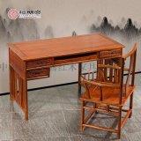 檀明宫红木电脑办公桌长条桌椅组合带抽屉刺猬紫檀书桌豪华台式桌