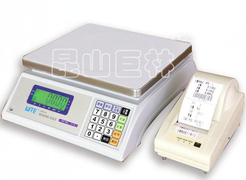 臺灣聯貿帶列印電子秤 不乾膠列印電子稱 包裝倉庫專用列印秤