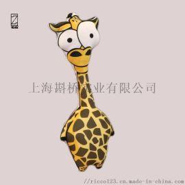 3d卡通动物长劲鹿 鳄鱼 老虎猴子创意抱枕靠垫